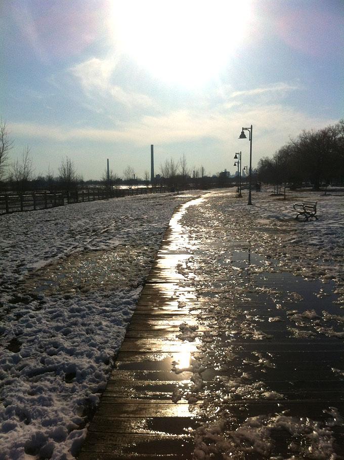 Icy Boardwalk