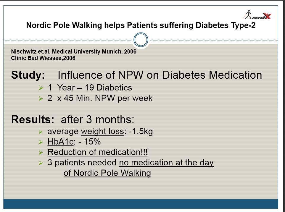 Nordic Walking and Diabetes