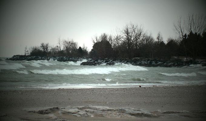 Woodbine Beach, rough weather